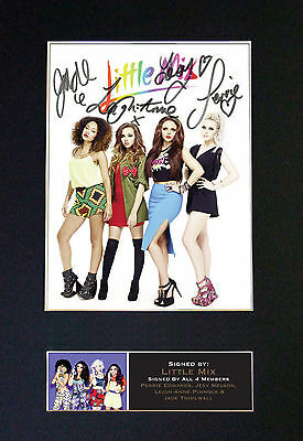 LITTLE MIX No2 Signed Mounted Autograph Photo Prints A4 585