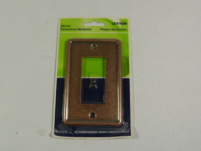 Leviton 37212-ACO Bronze Decorative Wallplate  NEW