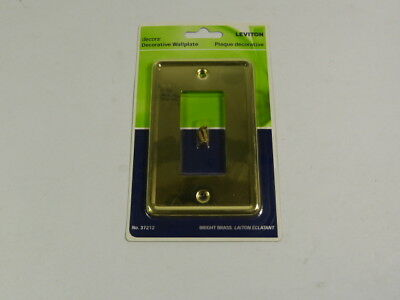 Leviton 37212-BBS Brass Decorative Wallplate  NEW
