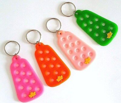 Lot 4 Porte-Cles Pour Pins Clip Fit Jibbitz Crocs Shoe Charms Keychains