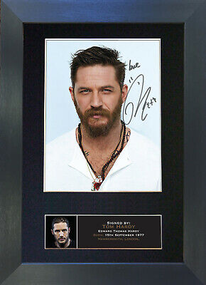 TOM HARDY Signed Mounted Autograph Photo Prints A4 580