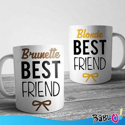 "Coppia Di Tazze You And Me Best Friend ""Blonde and Brunette"""
