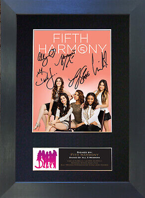 FIFTH HARMONY Signed Mounted Autograph Photo Prints A4 577