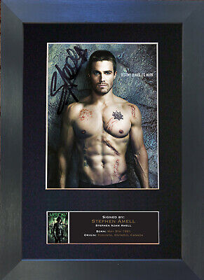 STEPHEN AMELL Arrow Signed Mounted Autograph Photo Prints A4 576