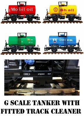 G SCALE 45mm GAUGE RAILWAY TRAIN TANKER & FITTED LGB CLEANER TRUCK BACHMANN LGB