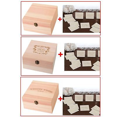 A Choice of Wooden Well Wishing Wedding Card Boxes With 48 Lace Guest Cards