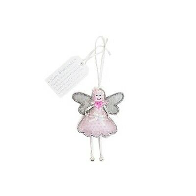 A beautiful fairy Bridesmaid with pink heart printed dress and a sequin heart
