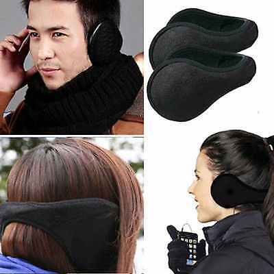 2 Pack: Winter Ear Warmers Behind the Ear Style - Fleece Muffs