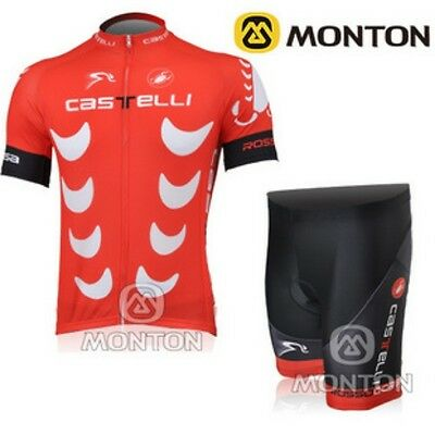 BNWT NEW Castelli Tech Labs Cycling Jersey and Short set Racing Bike tour