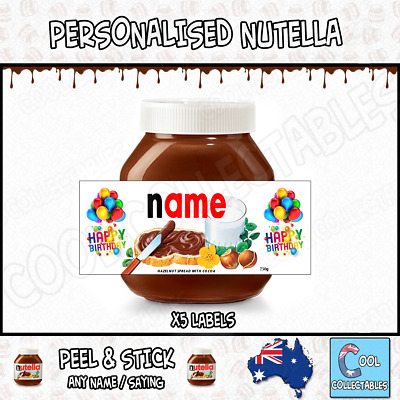 Nutella - 5 Personalised Label - Create your own label - *Wedding Theme *