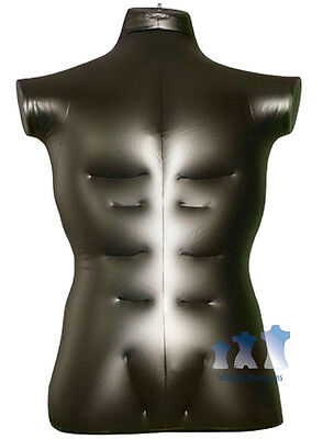 Inflatable Mannequin, Male Torso, Large Black