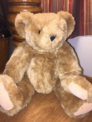 """Vermont Teddy Bear Classic Jointed Golden Brown TEDDY BEAR 16"""""""