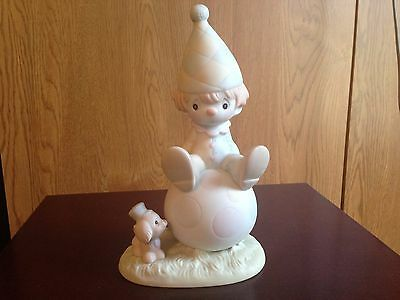 "1986 Precious Moments ""Lord Keep Me on the Ball"" Figurine #12270"