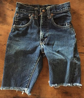 Vintage Levi's Levi Strauss Big E Denim Indigo 4170217 Kids Cutoff Jean Shorts