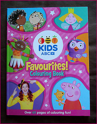 ABC KIDS FAVOURITES 64pg COLOURING IN Colour-in BOOK NEW PINK Emma Peppa Holly