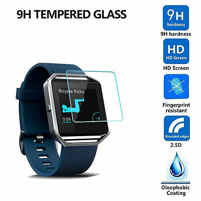 2X REAL Gorilla Tempered Glass Screen Protector For Fitbit Blaze Smart Watch UK