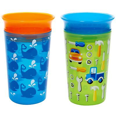 Munchkin Miracle 360 Sippy Cup Blue/Green 2 Count