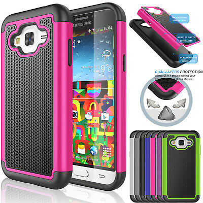 Hybrid Shockproof Protective Rubber Hard Case Cover for Samsung Galaxy J5 (2015)