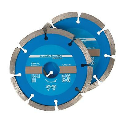 2 Mortar Masonry Raking Diamond Angle Grinder Grinding Brick Pointing Discs