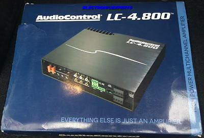 AUDIOCONTROL LC-4.800 4/3/2 Ch. Amplifier w/ Accubass Processing 800 Watts RMS