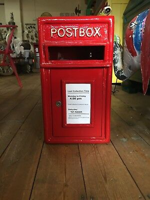 POST OFFICE LETTER BOX CAST IRON  Red Post Box