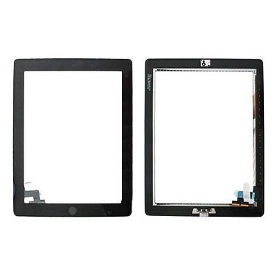 UK Ship Black Touch Screen Digitizer + Home Button Flex Cable For Apple iPad 2