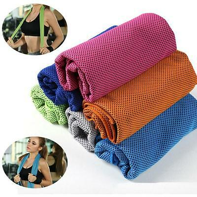 Running Pad Towel Gym Sports Ice Cold Chilly #B Enduring Instant Cooling Jogging