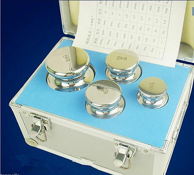 F1 Grade 1kg-5kg Precision Stainless Steel Scale Calibration Weight Kit Set T