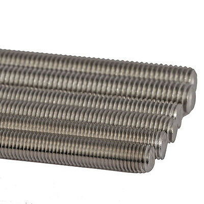 1x Threaded Rod Stainless Steel Screws M2 M2.5 M3 M4 M5 M6 M8 M10 M12 M16 M20