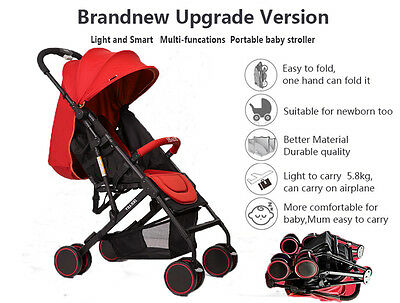 2016 New Mini Baby Stroller Travel System Pushchair infant carriage one-key fold
