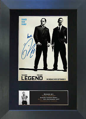 LEGEND Tom Hardy The Krays Signed Mounted Autograph Photo Prints A4 575