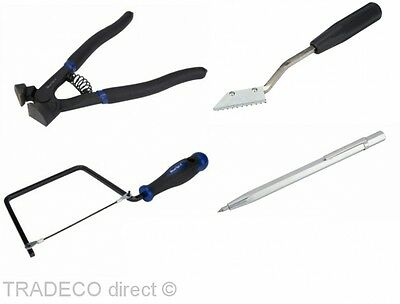 Tiling Tools Tile Nibbler Cutters Scribe Saw Grout Rake Tool Set Diy Tilers
