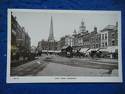 Hereford: High Town - Scarce Early Real Photo Postcard