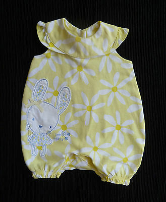 Baby clothes GIRL premature/tiny<7.5lb/3.4kyellow/white daisy dress-style romper