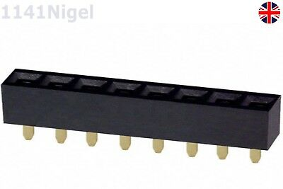 5 PCS 1x8 Single Row 8 Pins 2.54MM Header PCB Socket Female 1141nigel