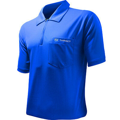 Dart Shirts - Target Cool Play - Breathable - PLAIN - ROYAL BLUE - Small-5XL