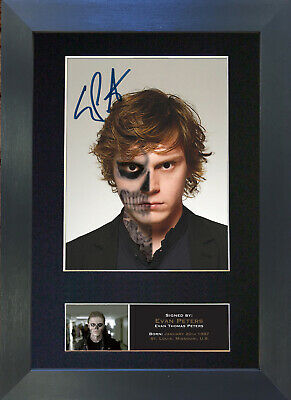 EVAN PETERS Signed Mounted Autograph Photo Prints A4 561