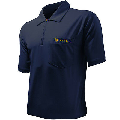Dart Shirts - Target Cool Play - Breathable - PLAIN - NAVY BLUE - Small-5XL