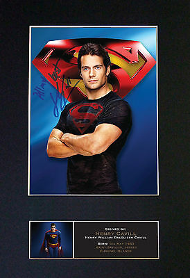 HENRY CAVILL Superman Signed Mounted Autograph Photo Prints A4 558