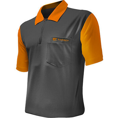 Dart Shirts - Target Cool Play 2 - Breathable - Grey with Orange - Small-5XL