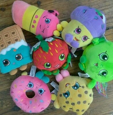 NWT Lot Of 1 Assorted Shopkins Plush Soft Cuddly Stuffed Animals Random Pick