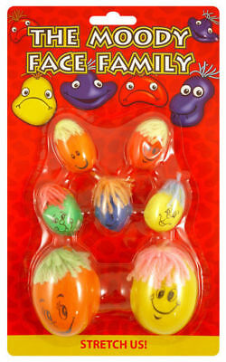Moody Face Family - 7 Pack - Pinata Toy Loot/Party Bag Fillers Smiley Kids