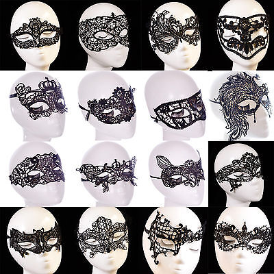 Hot Women Halloween Costume Face Eye Black Lace Mask Masquerade Party Ball Prom