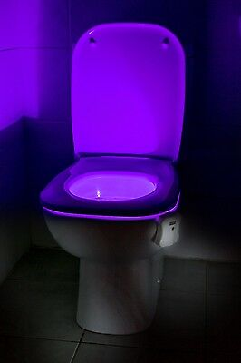 Auraglow Colour Changing LED Motion Activated Sensor Toilet Bowl Night Light