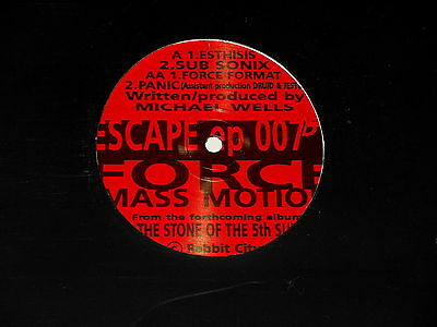 "Force Mass Motion - 12"" EP - Escape EP - 1993 - Rabbit City Records CUT 007"