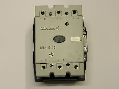 Moeller DIL4 M115 115A 55KW Contactor 110VAC Coil
