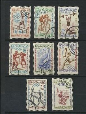 Olympics Wrestlers 1960 Rome Morocco #45-52 Complete 1960 Set of 8 Sports Stamps