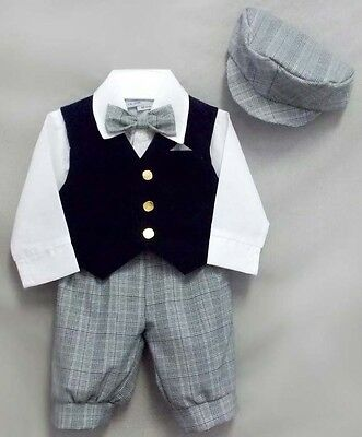 Formal Wear Just Darling 5Pc Boys Knicker Sets - Sizes: 6 mos Thru  8 (E029021#)