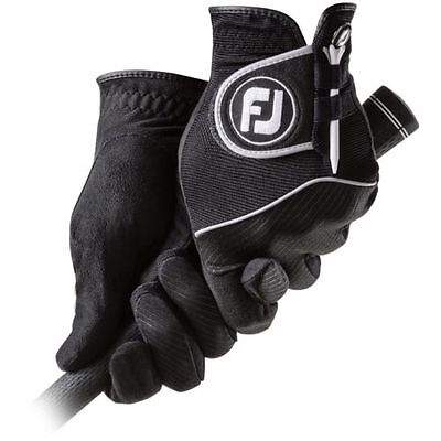 New 2017 FootJoy Rain Grip Men's Golf Gloves, BLACK, PICK A SIZE, 1 Pair