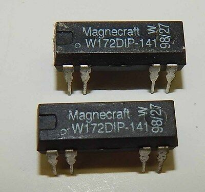 Lot of 2 - W172DIP-5, Magnecraft, Reed Relay, SPDT, 5VDC, 0.25A, THD